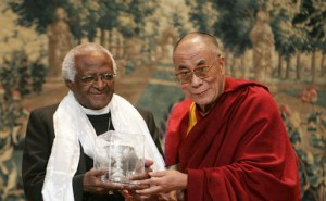 Archbishop Desmond Tutu with the Dalai Lama