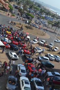The Start of the IBV Supercar Club Charity Parade