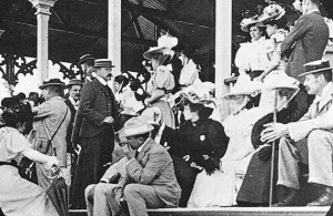 Spectators in The Grand Stand