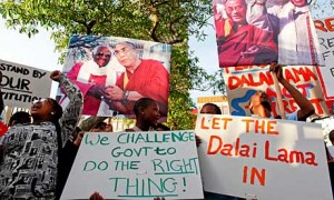 Supporters of the Dalai Lama