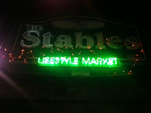 The Stables Lifestyle Market at Night