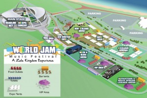 Layout of the World Jam Festival