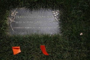 Nat Nasaka Tombstone in Fernhill Cemetery - US