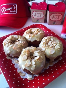 Amaretto White Chocolate Ganache with Almonds