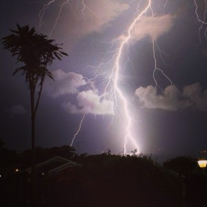 Lightning Storm Last Night - Pic by Ray Barber