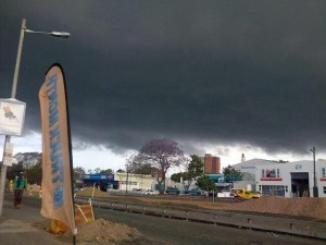 Dark Hail Storm Clouds in Durban