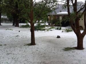 Hail in Howick