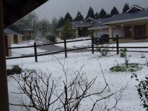Hail Storm in Howick