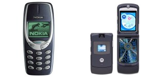 Nokia-3310-and-Motorola-RAZR-V3