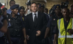 Oscar Pistorious Arriving At Court For His Sentencing