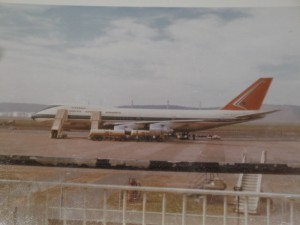 The First 747 to land at Louis Botha Airport (picture sourced forum.keypublishing.com)