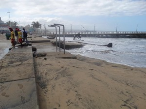 Storm Damage to Durban Beaches