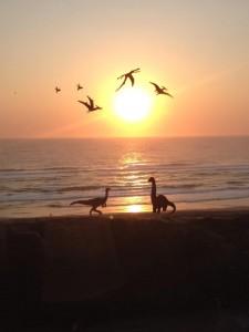 Dinosaurs on Durban Beach