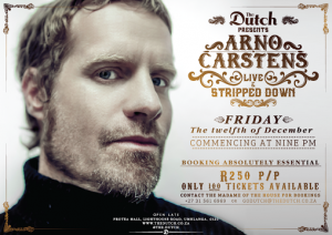Arno Carstens At The Dutch