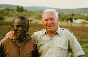Conservationist Ian Player with his beloved friend, mentor and wilderness guide, Magqubu Ntombela